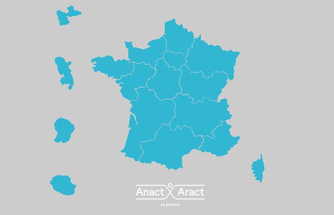 Carte de la france avec les différentes régions